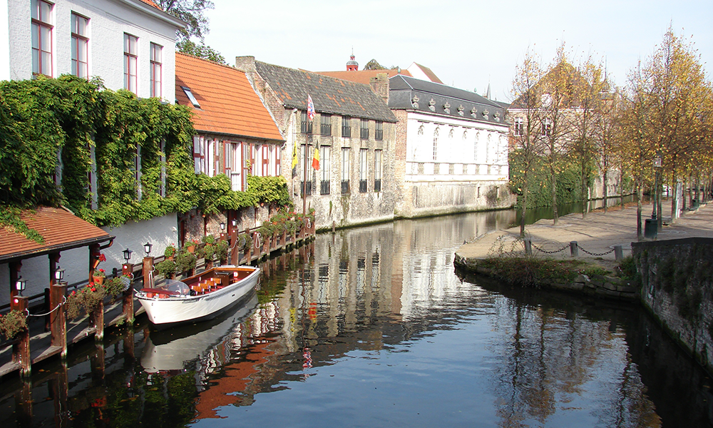 "The town of Bruges in the northwest of Belgium often referred to as ""The Venice of the North."""