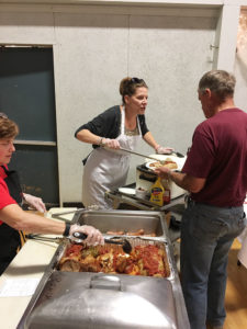 Deana Michaels serving food during Fulton Polish Fest at Fulton Polish Home in September...