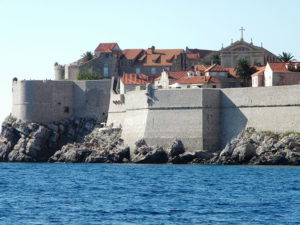 Dubrovnik seen from the water. This is another of Croatia's UNESCO World Heritage sites and a do-not-miss. It is a living museum.
