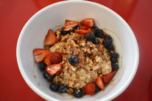 The nuts and berries porridge bowl ($8).