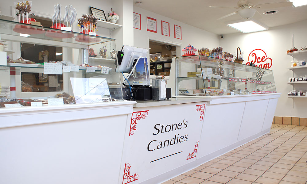 Interior of Stone's Homemade Candy Shop, which reopened recently at 23 W. Seneca St. in Oswego.
