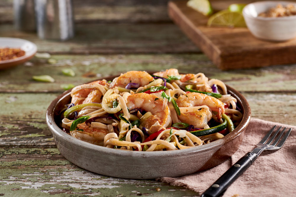 Seared lime shrimp is one of the top sellers at RealEats of America. The company has dozens of options on its website. It ships 25,000 to 30,000 meals per month.