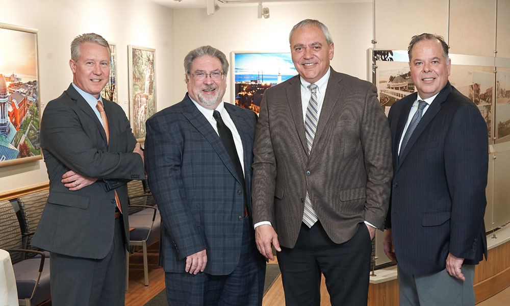 Oswego Health's leadership team: From left, Jeff Coakley, executive vice president and chief operating officer; surgeon Duane Tull, chief medical officer; Michael Harlovic, president and CEO; and physician Micheal Stephens, associate chief medical officer.