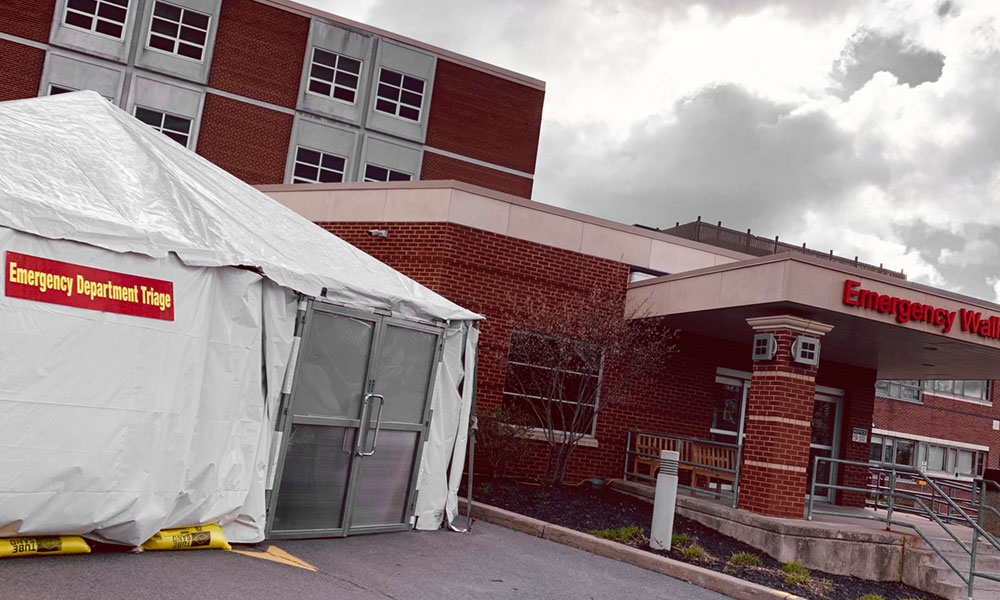 Beginning today, Oswego Health will staff a triage tent located outside its emergency department during from 10 a.m. to 10 p.m. for patient screening. Appointments are not needed but only one patient may enter the emergency department triage tent at a time. Patients are asked to call 315-349-5842 upon arrival and the emergency department will provide further instructions. All patients arriving at Oswego Hospital ER will first be evaluated in the triage tent and cleared for any respiratory illness before continuing into the emergency room at the hospital.