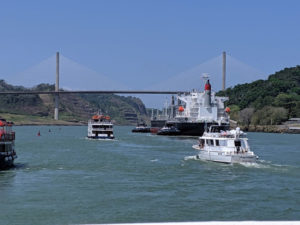 The Panama Canal plays an crucial role in the Panamenian economy. It is an artificial 51-mile waterway that connects the Atlantic Ocean with the Pacific Ocean.