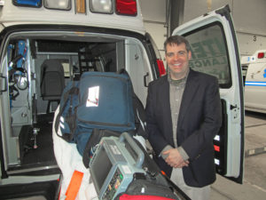 Inside an ambulance operated by Menter Ambulance. The cost to have an ambulance that is fully staffed and equipped is about $530,000 a year to maintain.