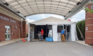 Oswego Health Dismantles Emergency Triage Tent