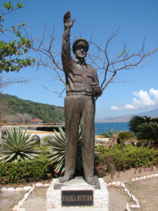 Statue of General Douglas MacArthur, who led American troops in the Philippines during World War II.