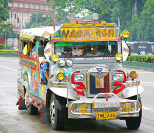 The Jeepneys are the most popular means of public transportation.