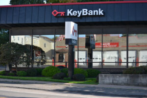 A man wearing a surgical face mask robbed the Key Bank branch in the village of Mexico July. Whether face masks contribute to a significant uptick in bank robberies this year remains to be seen, according to expert.
