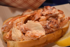 Maine lobster roll. Skip's Fish also offer Connecticut lobster.