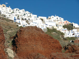 The white-washed buildings on the island of Santorini have become the iconic images of Greece.