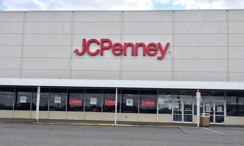 Front of the current J.C. Penney store on the east side of Oswego.