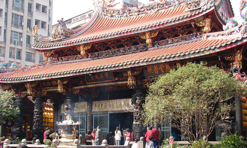 The oldest and most important Taiwanese temple is Longshan founded in 1738.