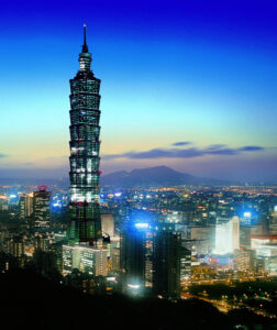 Taipei 101 in Taipei, once the world's tallest building.