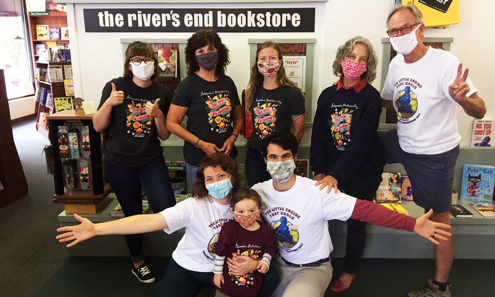 "Staff at the river's end bookstore in Oswego. ""Through the initial lockdown right up to the present day, our community has responded by taking advantage of our curbside service, home delivery and competitive shipping rates,"" said store manager Emil Christmann."