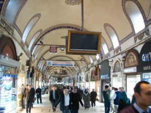 The Grand Bazaar, one of the largest and oldest markets in the world with over 4,000 shops.