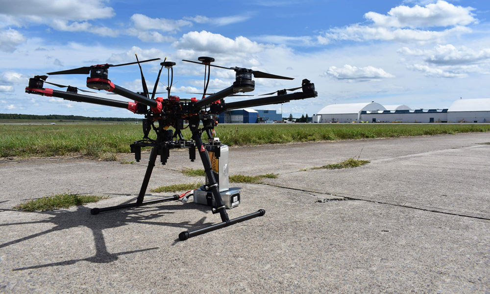 Drone at NY-UAS (New York unmanned aircraft systems) test site at Griffiss International Airport in Rome. Photo provided.