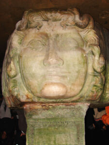 Image of Medusa at The Basilica Cistern in Istabul.