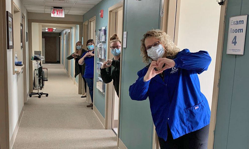 Nurses at the PrimeCare in Fulton, part of Oswego Health.