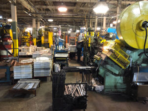 Inside Sherrill Manufacturing Factory in Oneida County.
