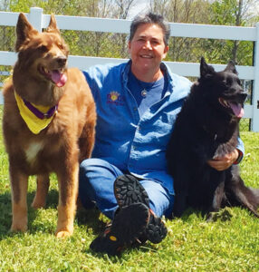 """Andrea Giordano owns and operates Dogs Among Us, LLC, a dog training campus in Oswego. She has introduced """"home schooling"""" for dogs that can help dog owners address unwanted behaviors, including separation distress."""