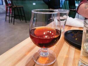Smoke & Mirrors ($10). The beverage (smoked over cedar) features Sazerac rye, chai rum and Benedictine D.O.M.