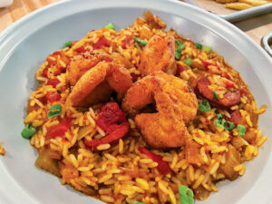 The jambalaya ($19, was bright and beautiful. As a heat lover, the spices are delightful, not overpowering.