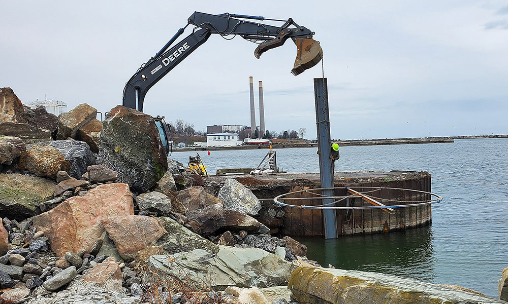 North dock being repaired.
