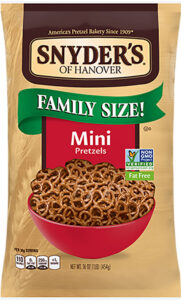 Snyder's A bag of Snyder's pretzels has gone from about $2 a bag to $3.69.