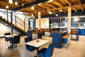 Dining and tasting rooms at Strigo has capacity for 50 to 60 people.
