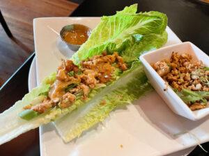 The Thai chicken lettuce wraps.