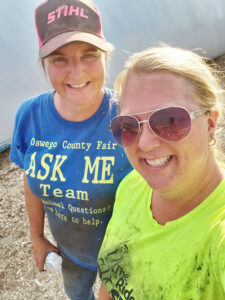 Trista VanDuzer, left, and her sister Melissa Booth. They had no experience in farming before they joined the farm their grandfather founded in 1949. They recently sold their herd and farm equipment due to a lack of employees to run the business.
