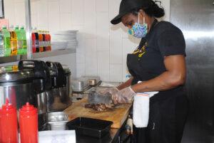Latoya Ricks of Erma's Kitchen, left full-time a job at St. Joseph's Health to open her restaurant at Salt City Market in Syracuse.