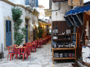 Old City neighborhood in Nicosia, Cyrpus' capital, located in the heart of the island. It's the island's largest and busiest city.