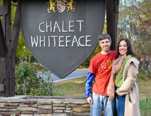 Scott Goewey and Allison Livesey of Chalet Whiteface at their Adirondacks bed and breakfast. Photos provided.