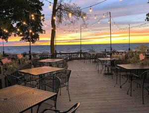 Beautiful sunsets at Lake Ontario is part of the experience diners have when they visit Rainbow Shores.