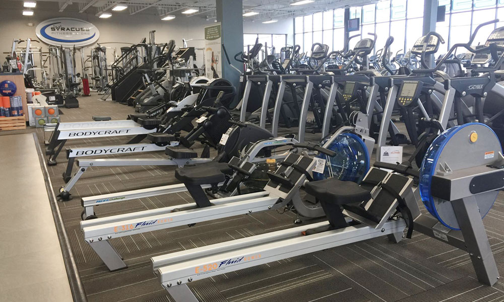 Pandemic has been good for businesses that sell fitness equipment. Andy Venditti, owner of the Syracuse Fitness Store, said his sales were up more than 100% in 2020 compared to 2019.