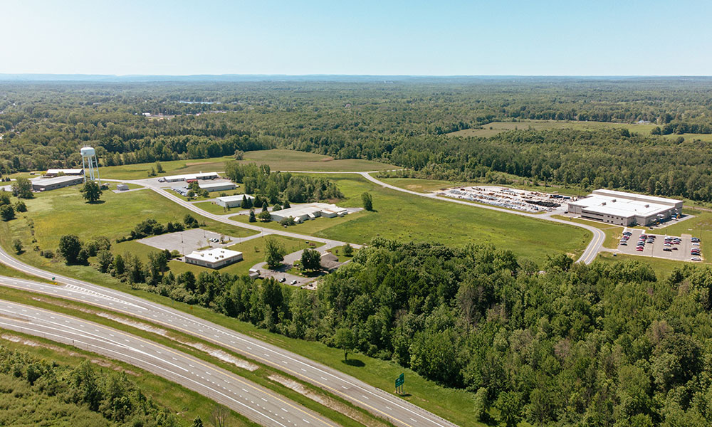 OOC operates three industrial parks in Oswego County, including the Oswego County Industrial Park off NYS Route 481 in the town of Schroeppel (photo), the Lake Ontario Industrial Park in the city of Oswego, and the Airport Industrial Park in the town of Volney.